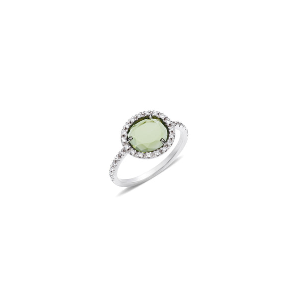 Colpo Di Fulmine Green Peridot and Diamond Ring