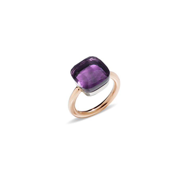 Nudo Maxi Ring in 18k Rose Gold and White Gold with Amethyst