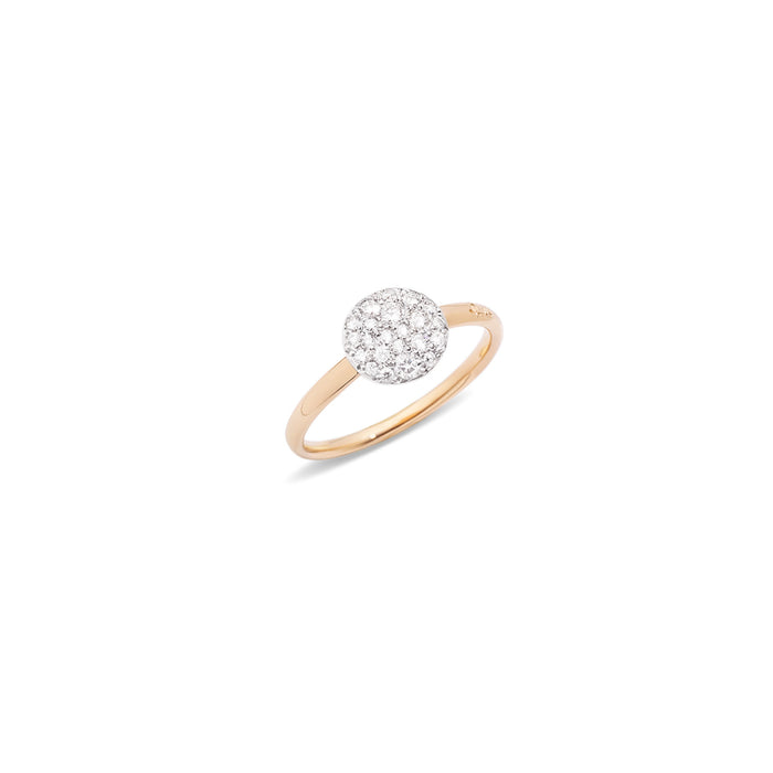 Sabbia Ring in 18k Rose Gold with White Diamonds