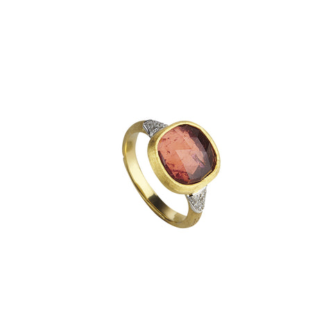 Jaipur 18k Gold Pink Tourmaline Gemstone & Diamond Ring