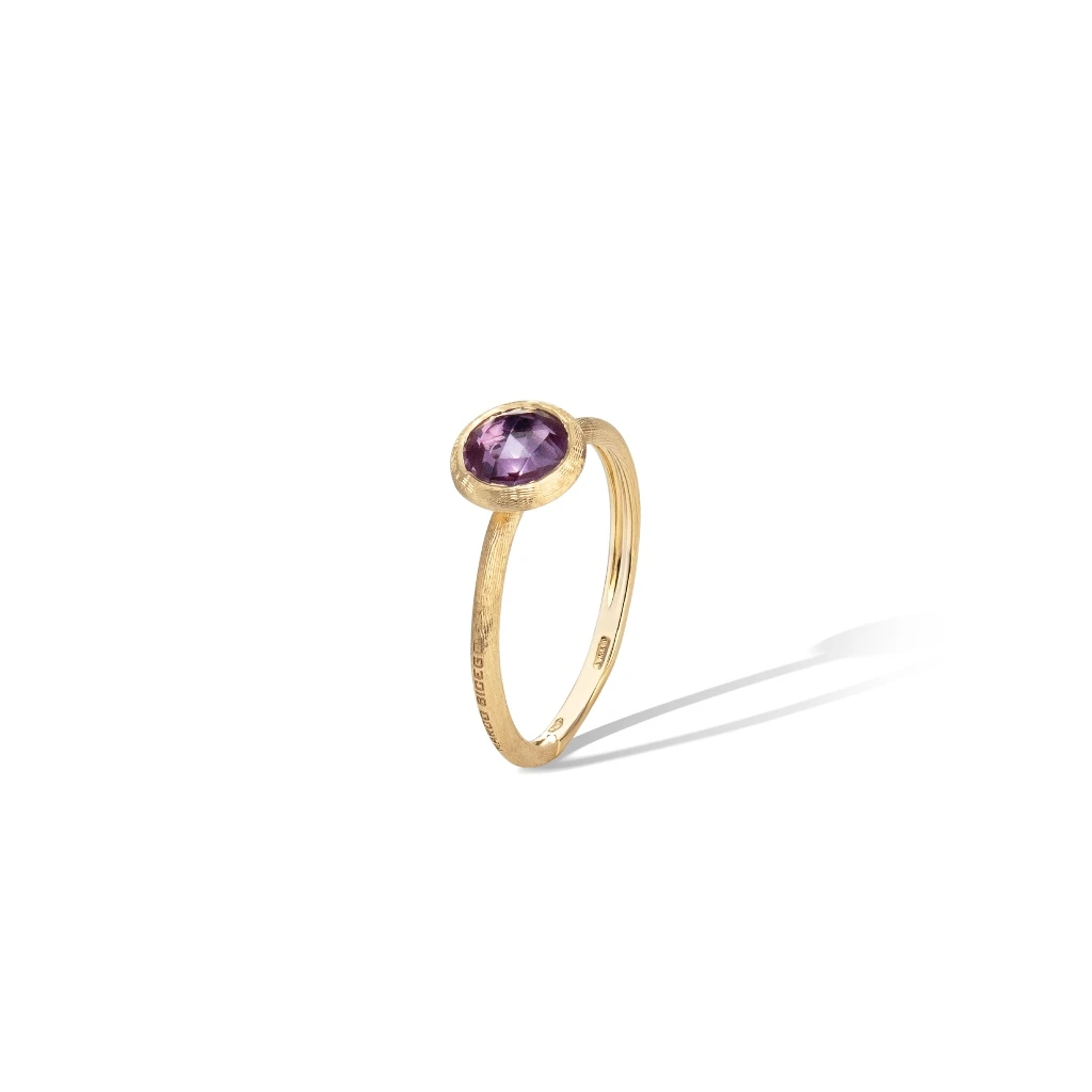 Jaipur Colour Ring in 18k Yellow Gold with Light Amethyst Mini - Orsini Jewellers NZ
