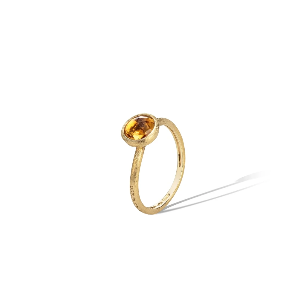 Jaipur Colour Ring in 18k Yellow Gold with Citrine Quartz Mini - Orsini Jewellers NZ