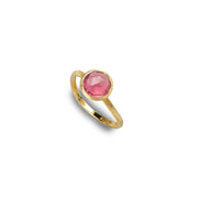 Jaipur 18k Gold Pink Tourmaline Gemstone Ring