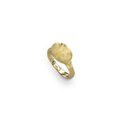 Siviglia Horizontal Oval 18k Gold Ring