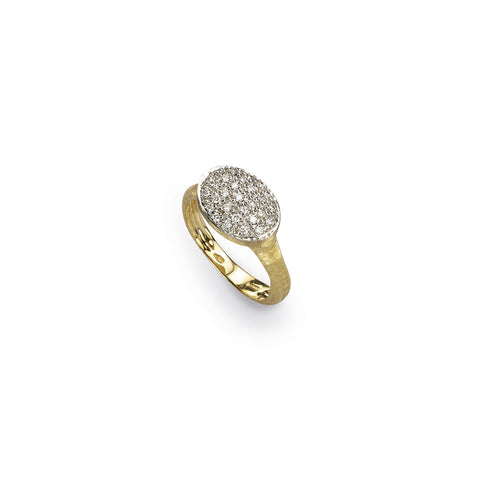 Siviglia 18k Gold Horizontal Oval Diamond Ring