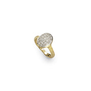 Siviglia 18k Gold Vertical Oval Diamond Ring