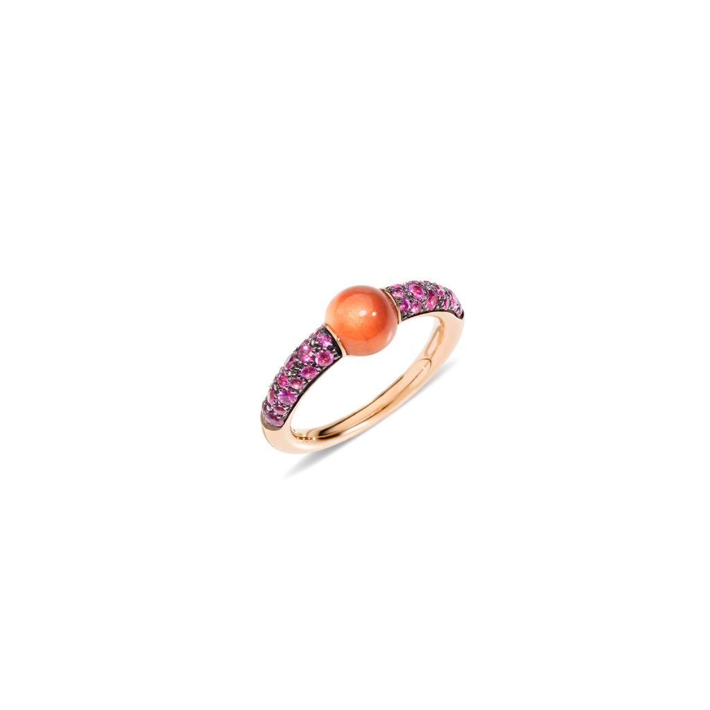 Mama non Mama Hessonite Garnet Ring with Pink Sapphires