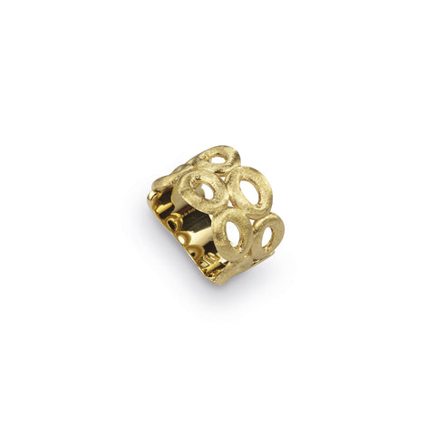 Siviglia Double Strand Eight Circle 18k Gold Ring