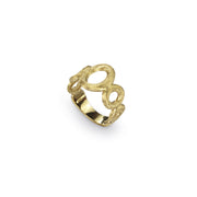 Siviglia Five Circle Vertical Graduated 18k Gold Ring