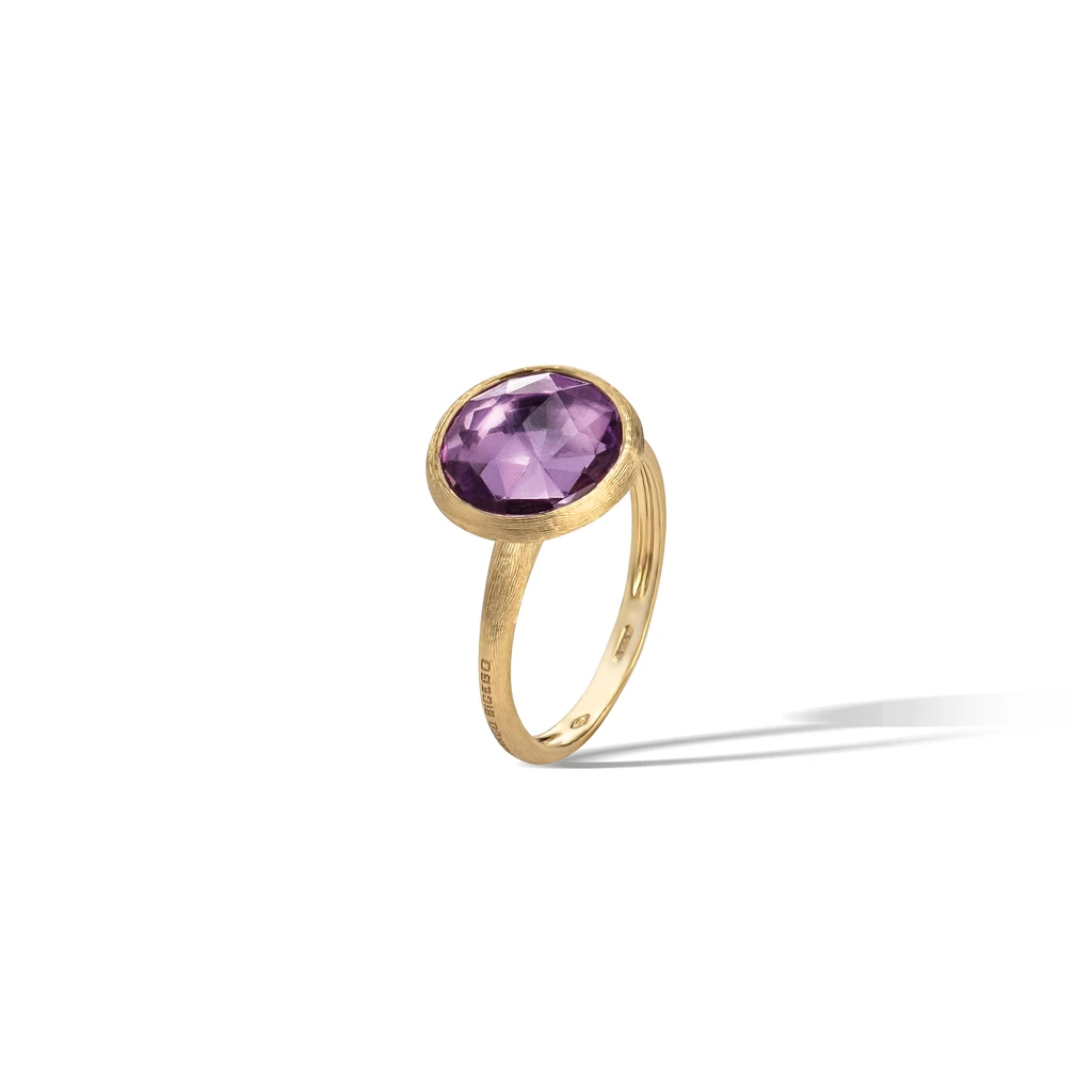 Jaipur Colour Ring in 18k Yellow Gold with Light Amethyst - Orsini Jewellers NZ