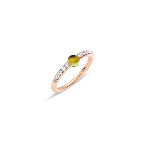 Mama non Mama Peridot Ring with diamonds