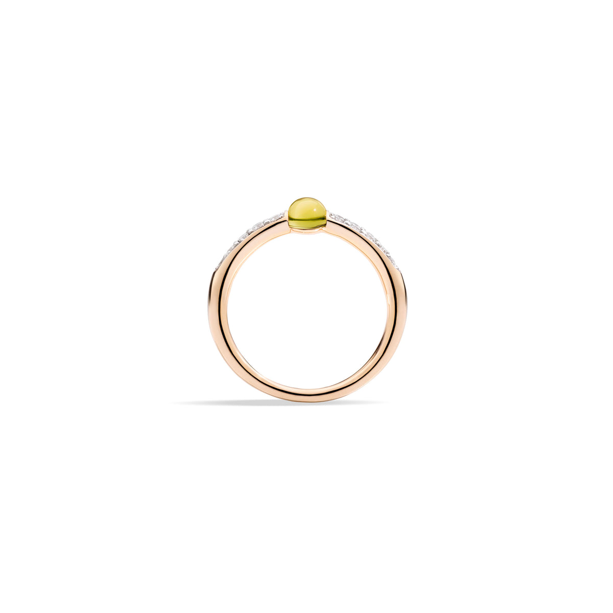 M'ama non M'ama Ring in 18k Rose Gold with Peridot and Diamonds - Orsini Jewellers NZ
