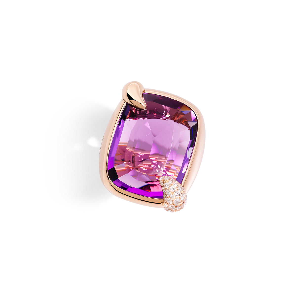 Ritratto Ring in 18k Rose Gold with Amethyst and Diamonds