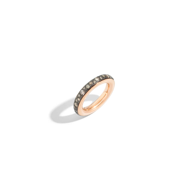 Iconica Ring in 18k Rose Gold and Pave Set Brown Diamonds (1.06ct)