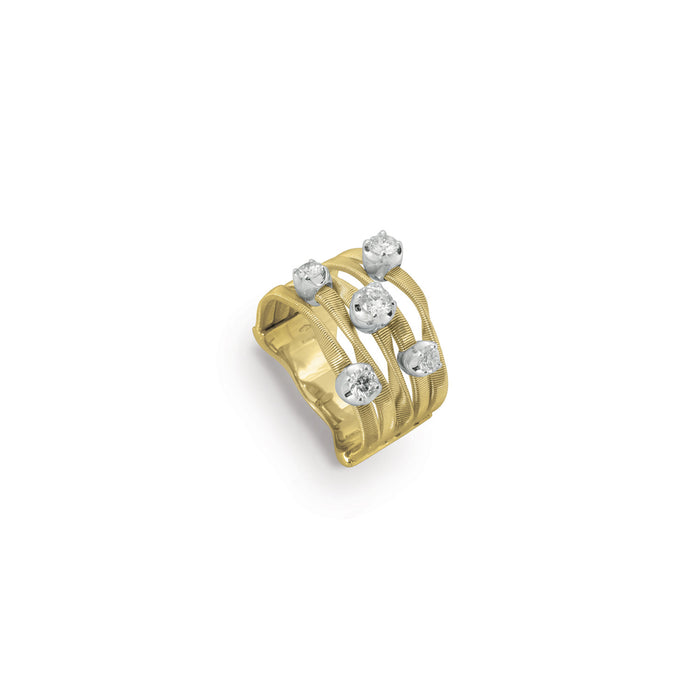 Marrakech 18k Gold Five Strand Large Diamond Ring