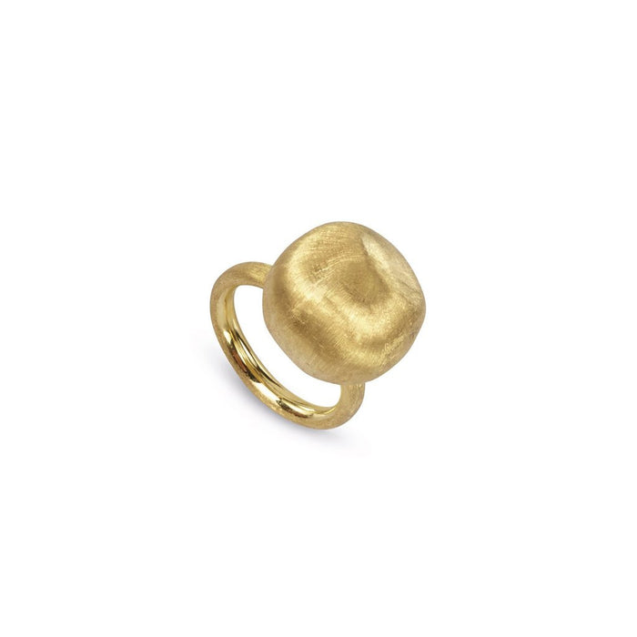 Africa Ring Single Ball in 18k Yellow Gold