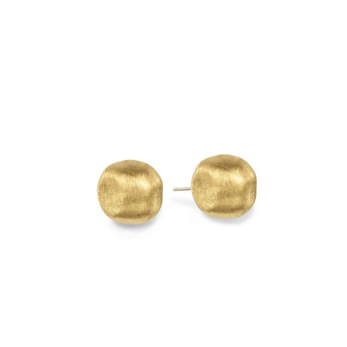 Africa Earrings Large Studs in 18k Yellow Gold