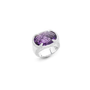 Amethyst and Diamond Sahara Cocktail Ring