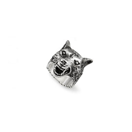 Gucci Angry Forest Ring in Aged Sterling Silver