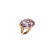 Arabesque Ring in 18k Rose Gold with Amethyst