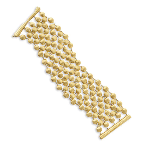 Africa Five Strand Small 18k Gold Ball 19cm Bracelet