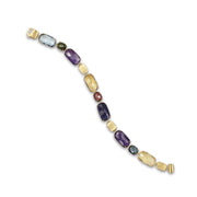 Murano 18k gold and gemstone bracelet