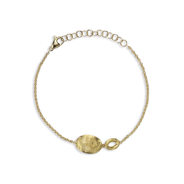 Siviglia 18k Gold Ball & Ring Bracelet