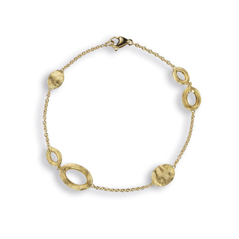 Siviglia 18k Gold Ball & Ring 18cm Bracelet