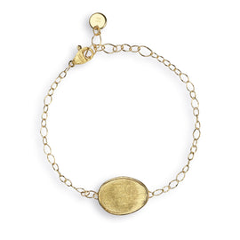 Lunaria 18k Gold Single Leaf 16cm Bracelet