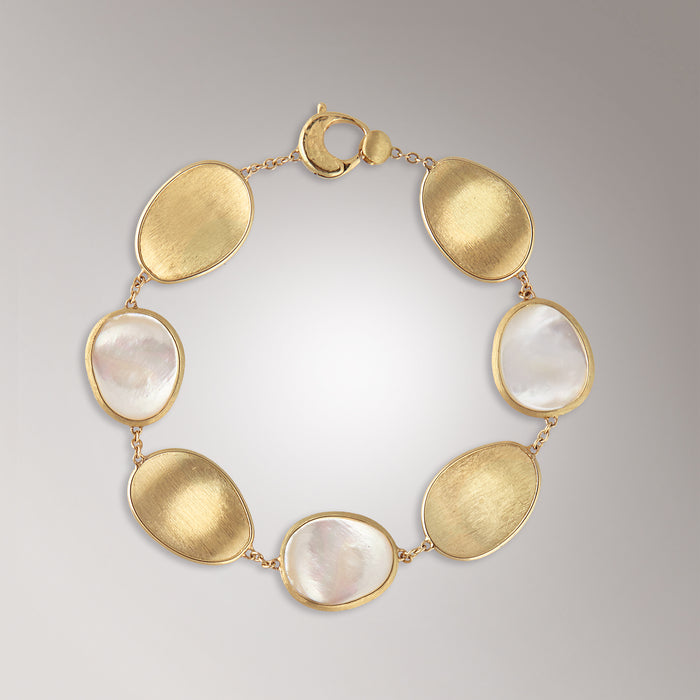 Marco Bicego 18kt yellow gold Bracelet with White Mother of pearl