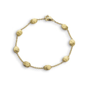 Siviglia Medium 18k Gold Ball Spaced Bracelet