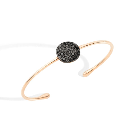 Sabbia Bracelet in Rose Gold with Burnished Rose Gold Pave and Black Diamonds (CT 0.497)