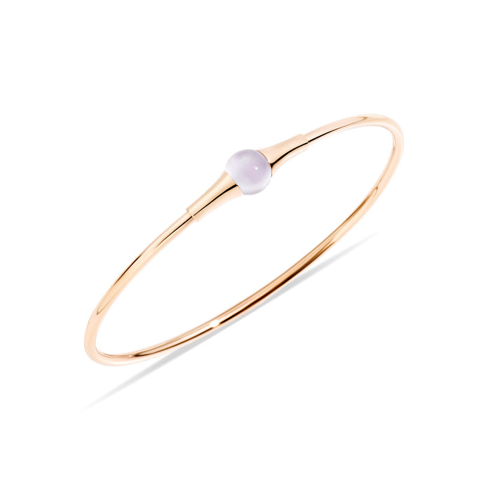 M'ama non M'ama Bangle in 18k Rose Gold with Chabochon Moonstone