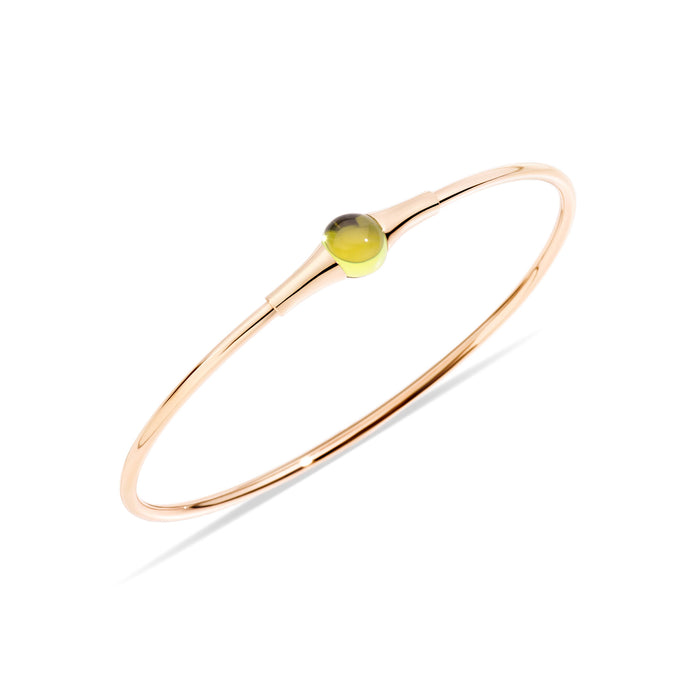 M'ama non M'ama Bangle in 18k Rose Gold with Chabochon Peridot