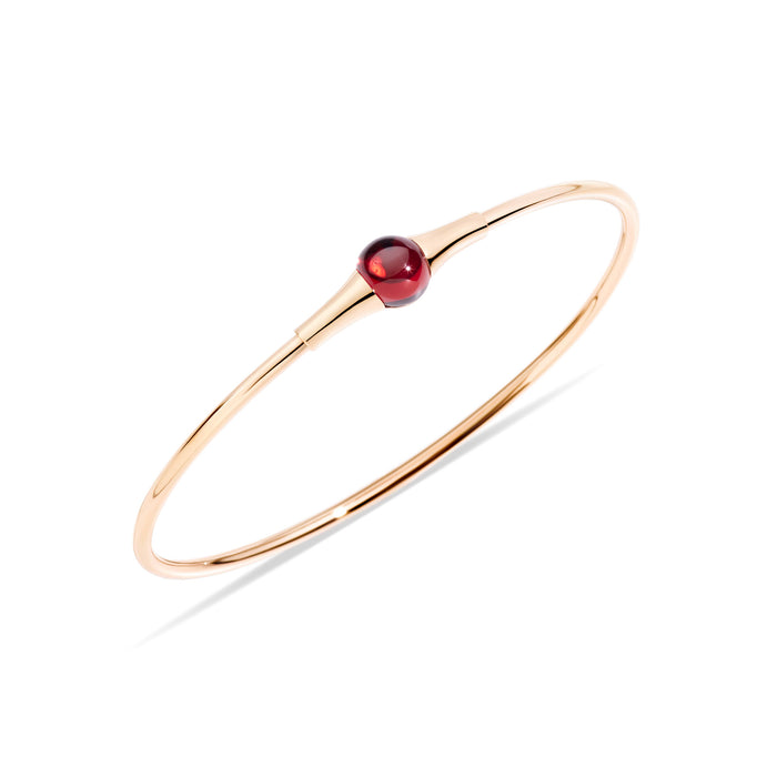 M'ama non M'ama Bangle in 18k Rose Gold with Chabochon Garnet