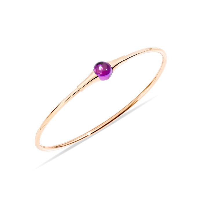 M'ama non M'ama Bangle in 18k Rose Gold with Chabochon Amethyst