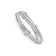 Goa Bracelet in 18k White Gold with Diamonds Five Strand