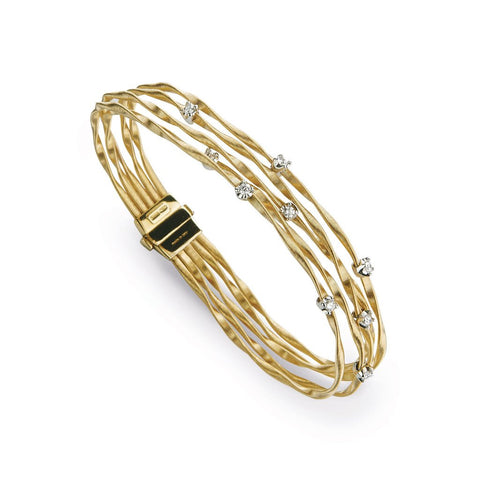 Marrakech Mini 18k Gold Five Strand Diamond Bracelet
