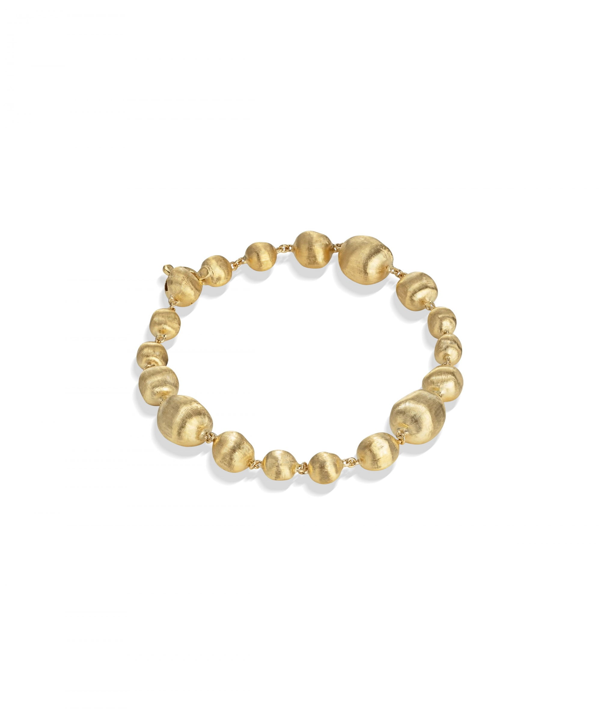 Africa Bracelet in 18k Yellow Gold with Irregular Spheres - Orsini Jewellers NZ