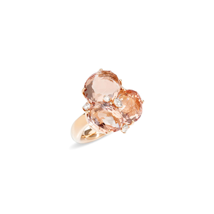Bahia Ring in 18k Rose Gold with Morganite and Diamonds