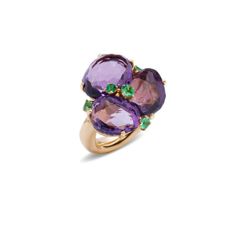 Bahia Ring in 18k Rose Gold with Amethyst and Tsavorites