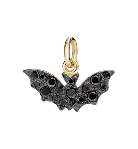 Dodo Bat Charm Diamond Black
