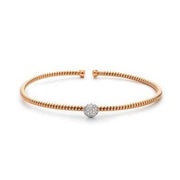 Boeli boeli 18k Rose Gold with Diamond Ball Bracelet