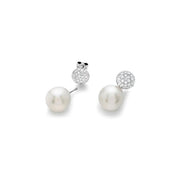 Boeli boeli 18k White Gold Diamond & Interchangeable Pearl Drop Earrings