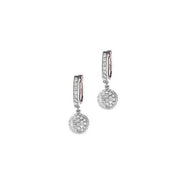 Boeli boeli 18k White Gold & White Diamond Drop Earrings