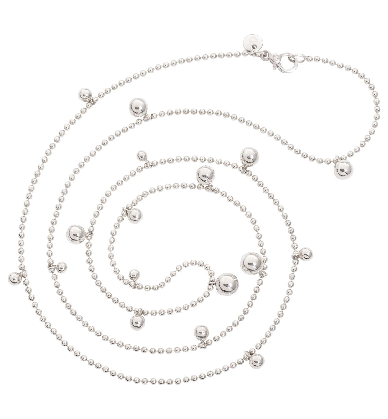 DoDo Bollicine Necklace with Spheres in Silver - Orsini Jewellers NZ