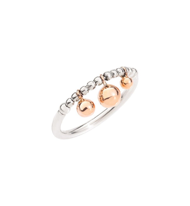 DoDo Bollicine Ring in Silver with 9k Rose Gold