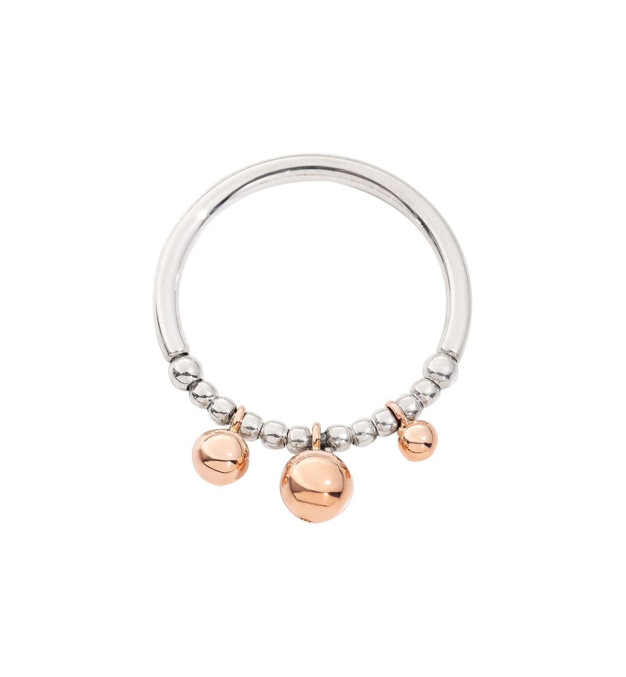 DoDo Bollicine Ring in Silver with 9k Rose Gold - Orsini Jewellers NZ