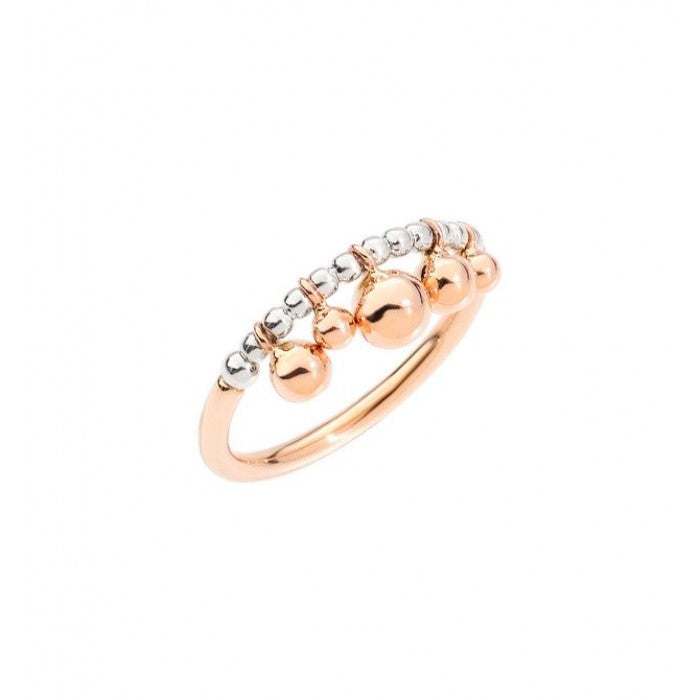 DoDo Bollicine Ring in Silver and 9k Rose Gold - Orsini Jewellers NZ