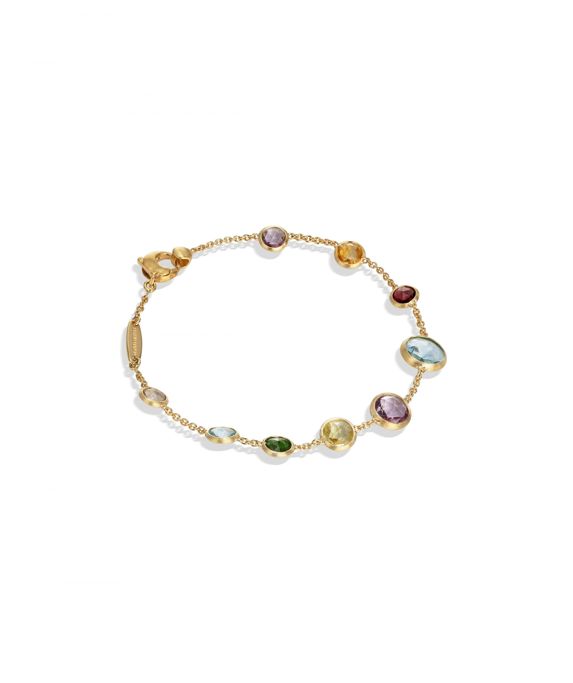 Jaipur Colour Bracelet in 18k Yellow Gold with Mixed Gemstones - Orsini Jewellers NZ